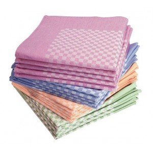 SERVIETTE DE TABLE COTILLON 55 x 55 cm - LOT DE 10