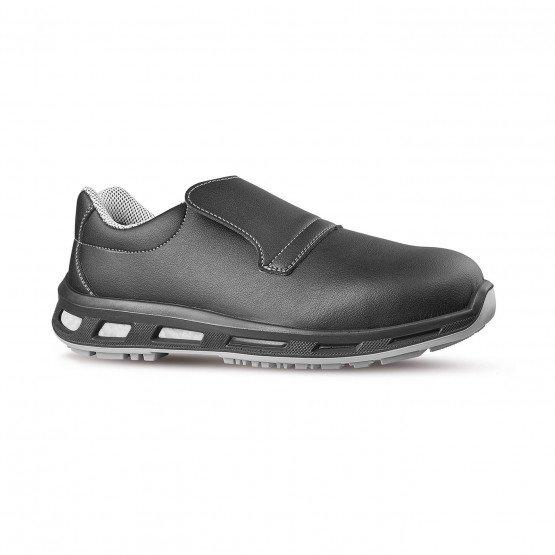 NOIR - Chaussure de cuisine de sécurité S2 professionnelle de travail noire ISO EN 20345 S2 mixte restaurant serveur restauratio