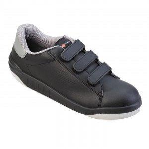 NOIR - Chaussure de sécurité S3 professionnelle de travail noire ISO EN 20345 S3 mixte chantier menage artisan entretien