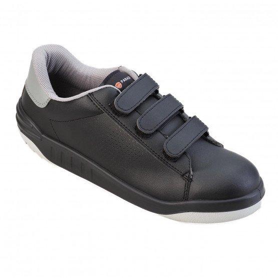 NOIR - Chaussure de sécurité S3 professionnelle de travail noire ISO EN 20345 S3 mixte manutention entretien internat chantier