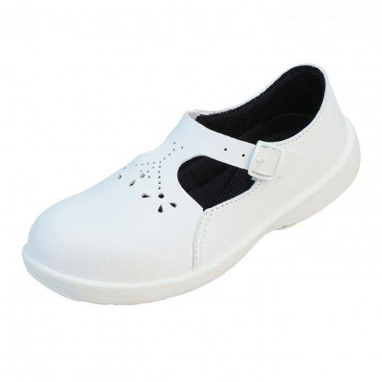 BLANC - Chaussure de sécurité S1P SRC professionnelle de travail blanche noire ISO EN 20345 S1P femme menage infirmier entretien