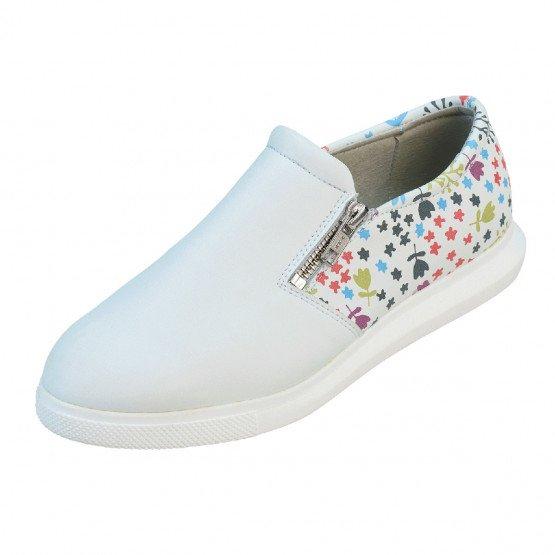 BLANC/MATISSE - Chaussure professionnelle de travail blanche femme - PROMO aide a domicile médical auxiliaire de vie infirmier