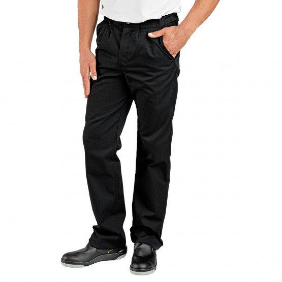 Pantalon professionnel travail homme cuisine restauration hotel restaurant - NOIR