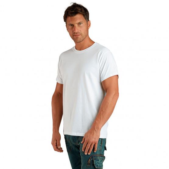 Tee-shirt professionnel travail manches courtes 100% coton mixte aide domicile infirmier auxiliaire vie medical - BLANC