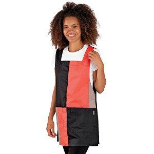 Chasuble tablier blouse professionnel femme menage auxiliaire vie entretien aide domicile - PAPAYE/NOIR