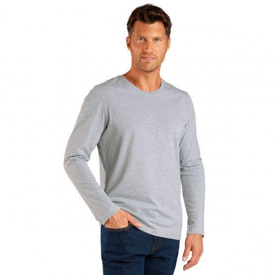 GRIS - Tee-shirt professionnelle de travail à manches longues homme esthéticienne médical internat serveur