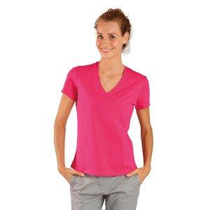 Tee-shirt professionnel travail manches courtes femme aide domicile medical auxiliaire vie infirmier - FUCHSIA