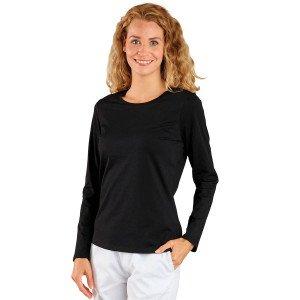 Tee-shirt professionnel travail manches longues femme infirmier aide domicile medical auxiliaire vie - PRUNE