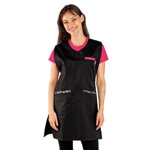 Chasuble tablier blouse professionnel femme entretien auxiliaire vie menage aide domicile - NOIR/WAX