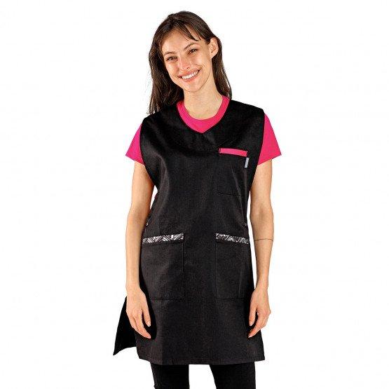 NOIR/WAX - Chasuble tablier blouse professionnel femme entretien aide a domicile menage auxiliaire de vie