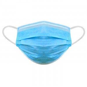 BLANC - Masques chirurgicaux jetables professionnelle de travail 3 plis : polypropylène + filtre + polypropylène EN 14683:2005 m