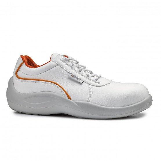 BLANC - Chaussure de cuisine de sécurité S2 professionnelle de travail blanche ISO EN 20345 S2 mixte serveur restaurant restaura