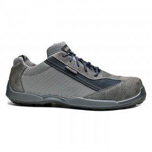 GRIS - Chaussure de sécurité S1P professionnelle de travail en cuir ISO EN 20345 S1P mixte artisan entretien chantier menage