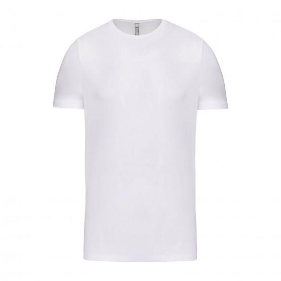 BLANC - Tee-shirt professionnelle de travail à manches courtes 97% coton / 3% élasthanne, pour coloris GRIS 87% coton / 9% visco