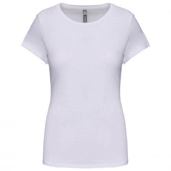 BLANC - Tee-shirt professionnelle de travail à manches courtes 97% coton / 3% élasthanne, pour le coloris GRIS : 87% coton / 9%