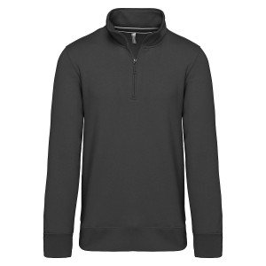 WORK SWEAT SOL ZIP - NOIR