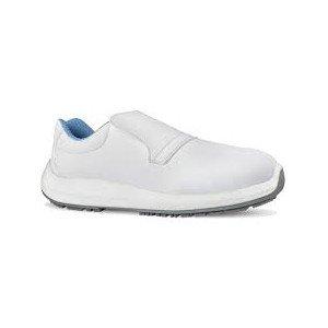 BLANC - Chaussure de cuisine de sécurité S2 professionnelle de travail blanche ISO EN 20345 S2 mixte restaurant restauration hôt