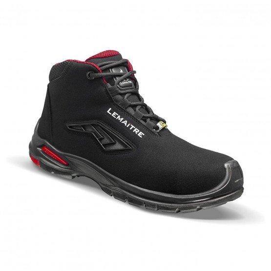 NOIR - Chaussure de sécurité S3 professionnelle de travail noire ISO EN 20345 S3 mixte chantier artisan transport manutention