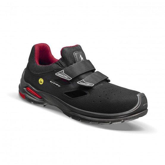 NOIR - Chaussure de sécurité S1P professionnelle de travail noire ISO EN 20345 S1P mixte transport chantier logistique artisan