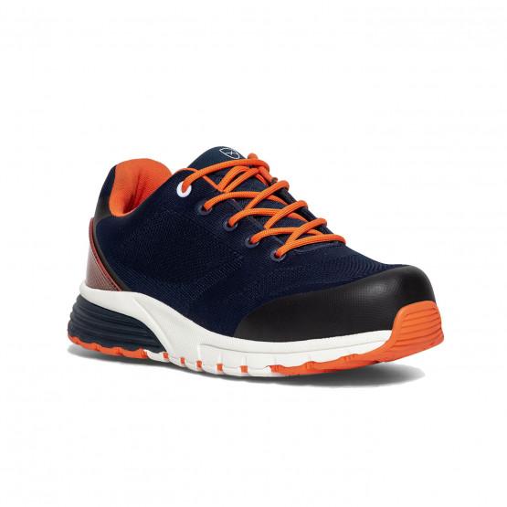 MARINE/ORANGE - Chaussure de sécurité S1P professionnelle de travail noire ISO EN 20345 S1P mixte artisan chantier transport man