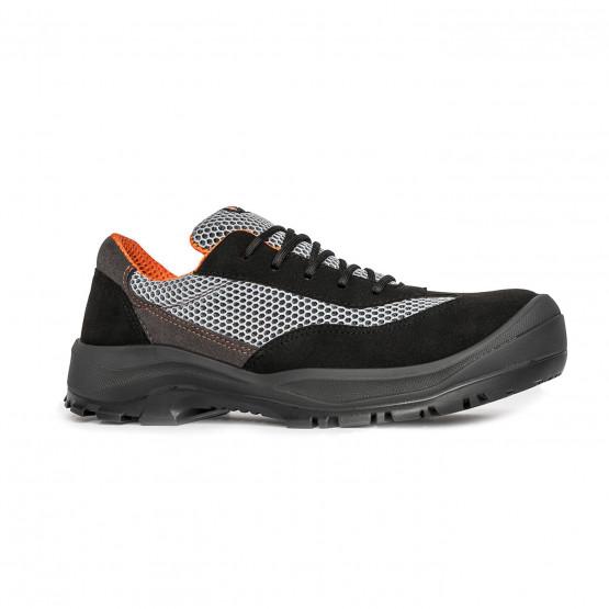 GRIS/ORANGE - Chaussure de sécurité S1P professionnelle de travail ISO EN 20345 S1P mixte entretien chantier menage artisan