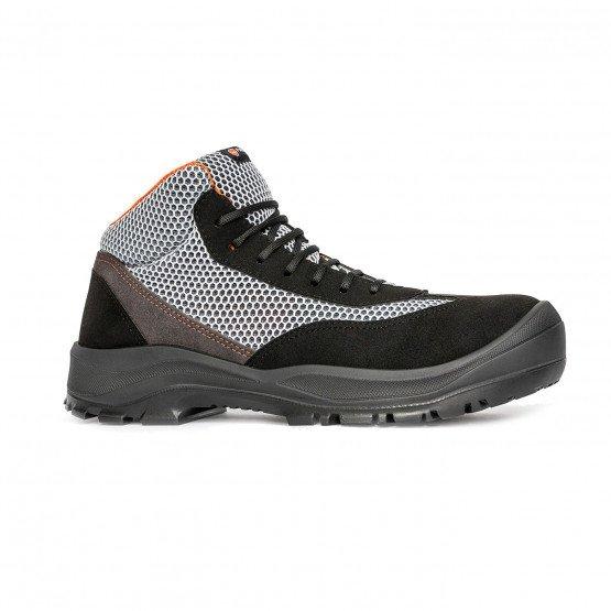 GRIS/ORANGE - Chaussure de sécurité S1P professionnelle de travail ISO EN 20345 S1P mixte chantier entretien artisan menage