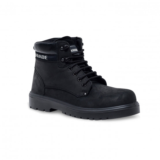 NOIR - Chaussure de sécurité S3 professionnelle de travail noire en cuir ISO EN 20345 S3 mixte transport menage entretien artisa