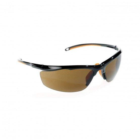 NOIR - Lunette professionnelle de travail Polycarbonate teinté EN 166 EPI de l'œil : Protection contre les dangers pouvant endom
