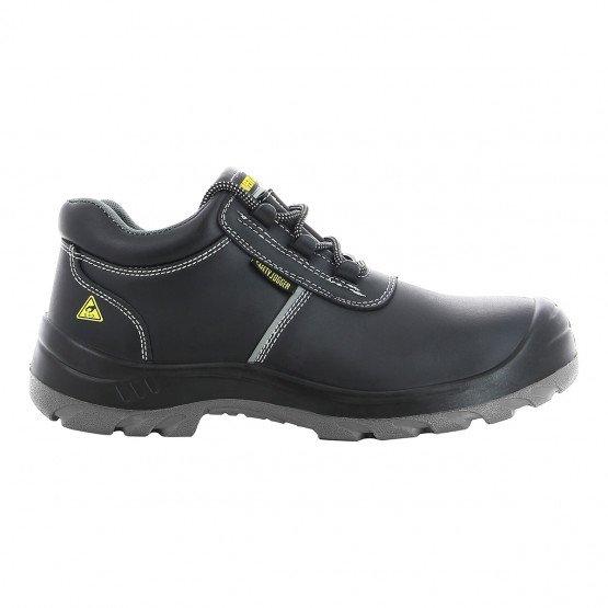 NOIR - Chaussure de sécurité S3 professionnelle de travail noire en cuir ISO EN 20345 S3 mixte artisan menage chantier entretien