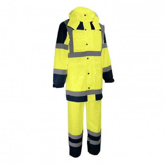 JAUNE - Ensemble de pluie professionnelle de travail homme transport chantier manutention artisan