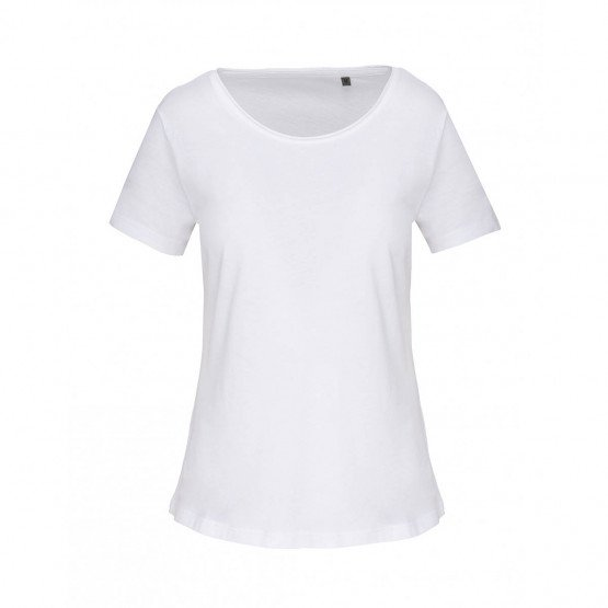 BLANC - Tee-shirt professionnelle de travail à manches courtes 100% coton femme esthéticienne auxiliaire de vie menage infirmier