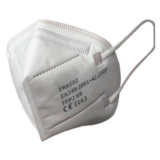 BLANC - Demi-masque respiratoire filtrant professionnelle de travail 44.5 % Polypropylène non tissé/ 27.8 % Microfibres/ 27.7 %