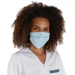 BLEU - Masque de protection lavable professionnelle de travail 100% Coton - PROMO menage aide a domicile entretien auxiliaire de