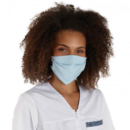 BLEU - Masque de protection lavable professionnelle de travail 100% Coton - PROMO entretien aide a domicile menage auxiliaire de