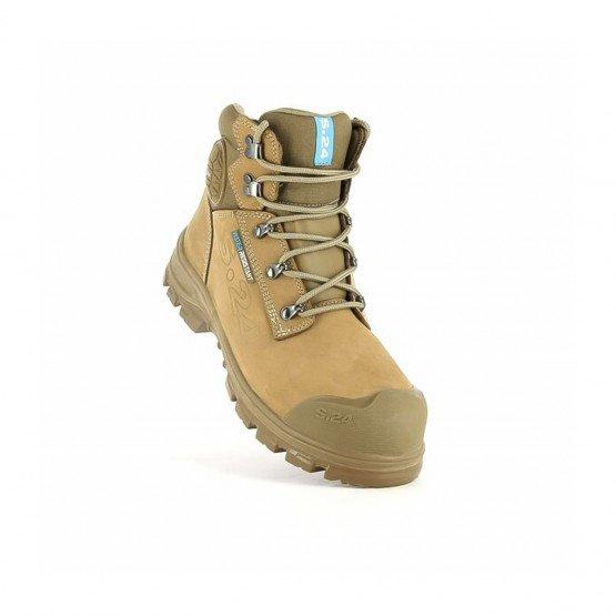 Chaussure haute de sécurité S3 professionnelle de travail en cuir ISO EN 20345 S3 mixte chantier artisan