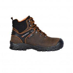 MARRON - Chaussure haute de sécurité S3 professionnelle de travail ISO EN 20345 S3 homme manutention chantier logistique artisan