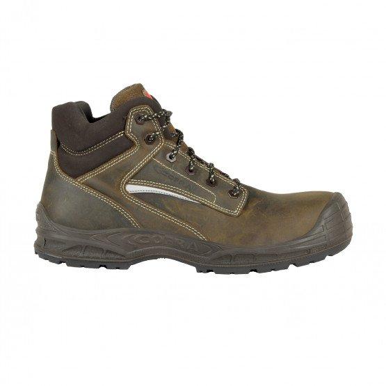 MARRON - Chaussure haute de sécurité S3 professionnelle de travail ISO EN 20345 S3 mixte foyer artisan chantier transport