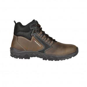 MARRON - Chaussure haute de sécurité S3 professionnelle de travail ISO EN 20345 S3 homme chantier école internat artisan