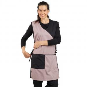ZINC/NOIR - Chasuble tablier blouse professionnel femme menage aide a domicile entretien auxiliaire de vie