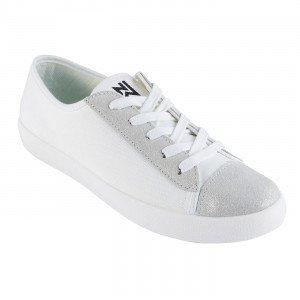 BLANC/ARGENT - Chaussure professionnelle de travail blanche en cuir SRB Semelle anti-dérapante sur sols en acier recouverts de g