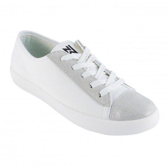 BLANC/ARGENT - Chaussure professionnelle de travail blanche en cuir SRC Semelle anti-dérapante sur sols en céramique recouverts