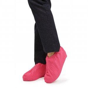 ROSE - Sur-chaussure en éponge professionnelle de travail Coton/Polyester femme aide a domicile infirmier auxiliaire de vie médi