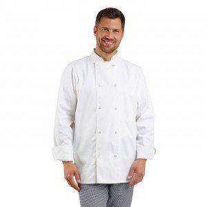BLANC - Veste de cuisine manches longues professionnelle de travail à manches longues homme hôtel restaurant cuisine serveur