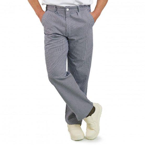 PIED DE POULE - Pantalon de cuisine professionnelle de travail 100% coton mixte serveur cuisine hôtel restaurant