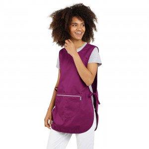 PRUNILLE - Chasuble tablier blouse professionnel blanche femme menage auxiliaire de vie entretien aide a domicile