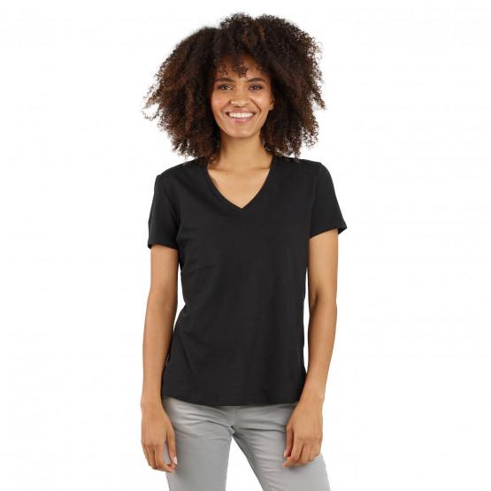 NOIR - Tee-shirt professionnelle de travail à manches courtes femme transport entretien artisan infirmier