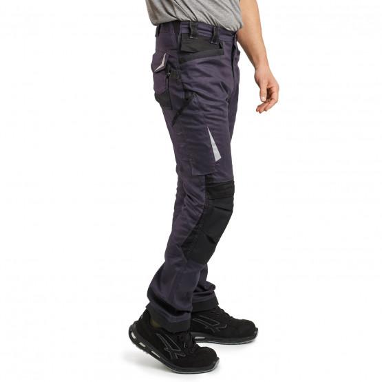 GRIS/NOIR - Pantalon de travail professionnelle homme chantier manutention internat artisan