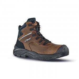 CAMEL - Chaussure haute de sécurité S3 professionnelle de travail en cuir ISO EN 20345 S3 homme chantier menage artisan entretie
