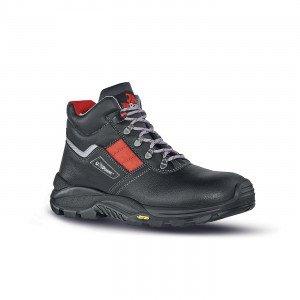 NOIR - Chaussure haute de sécurité S3 professionnelle de travail noire en cuir ISO EN 20345 S3 homme logistique artisan transpor
