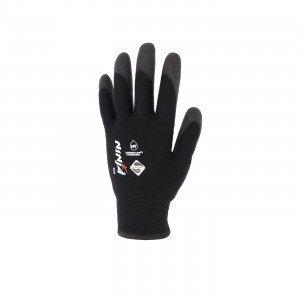 NOIR - Gant de manutention professionnel de travail polyamide/tricoté EN 420 Conforme aux exigences générales en matière de gant